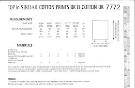cotton prints dk 7772 tops knitting pattern