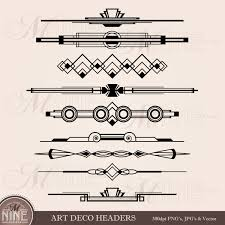 Art Deco Design Art Deco Header Clip Art Header Accent Clipart Art Deco