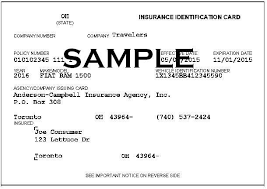 Ohio travelers car insurance images Proof of auto insurance template free template design jpg