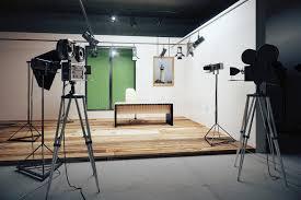 bureau de studio décorations de bureau de studio cinématographique avec des appareils