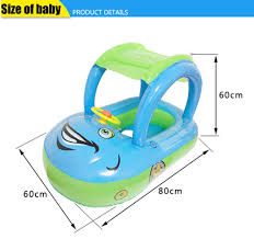 summer infant bath seat promotion shop for promotional summer summer hot sale cute inflatable safety baby infant swimming float inflatable adjustable sunshade seat boat bath sun shading