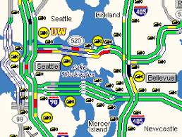 seattle map traffic wsdot getting around puget sound area construction