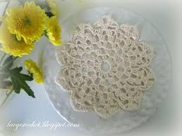 Tiny Flower Crochet Pattern - lacy crochet small flower doily my first written doily pattern