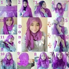 tutorial hijab segitiga paris simple tutorial cara memakai jilbab paris simple