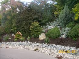 Landscaping Ideas Hillside Backyard Low Stone Wall And Hillside Landscaping Ideas Visit Us At Wwww