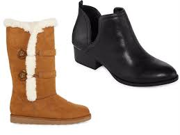 womens boots on sale jcpenney buy 1 pair boots get 2 free pairs at jcpenney mojosavings com