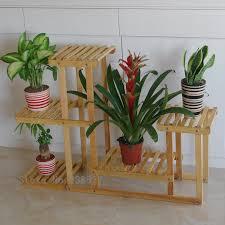 Etagere Wood Wood 4 Tier Flower Pot Racks Home Garden Decor Etagere Plant Pot
