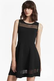 tobey crepe knit mini skater dress dresses french connection