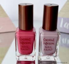 barry m coconut infusion nail polishes floralesque