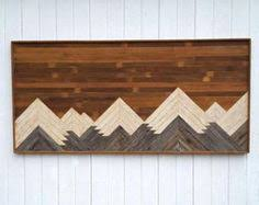 wood mountain wall wood wall mountain range by mountaindwelling on etsy https