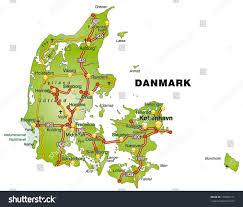 map denmark highways stock illustration 170605151 shutterstock