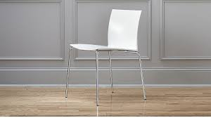 Slim Dining Chairs Slim White Chair In Accent Chairs Reviews Cb2