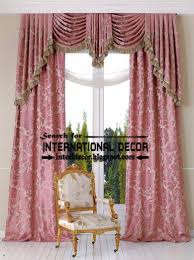 Pink And White Curtains Royal White Curtains With Luxury Valance Design Ideas Curtain