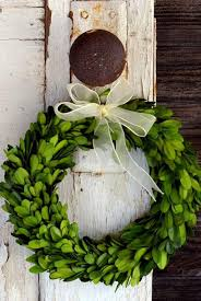 boxwood wreath with ribbon 3 sizes available finders keepers decor