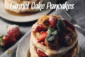 funnel cake pancakes allergen free by hybrid rasta mama