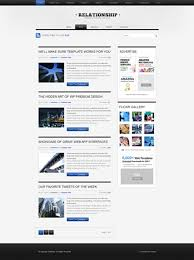 relation html template blog style website templates