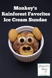 ice cream sundae monkey u0027s rainforest food for kids pinterest