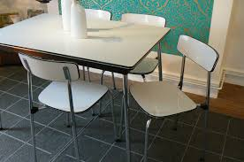 1950 Kitchen Table And Chairs Also Formica Retro Dining Set Old