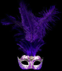 purple masquerade mask stella feather venetian mask silver purple