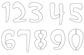 printable numbers stencil for coloring free coloring pages