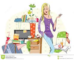 young in a messy room stock photo image 35153820