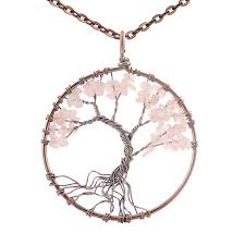 necklace women vintage images Tree of life handmade 7 chakra natural stone pendant necklace jpg