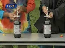 cool science experiments explosion with mentos and diet coke