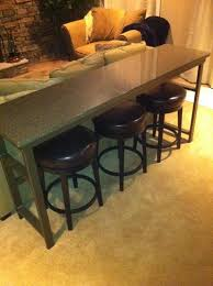 Narrow Bistro Table Startling Long Bar Table Exquisite Decoration Solid Rustic Wood