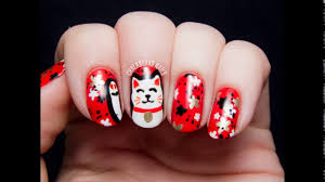 nail art design for chinese new year 2014 youtube