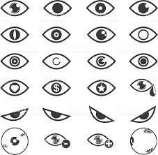 eye designs white background vector illustrations eps10 stock