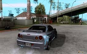 custom nissan skyline drift nissan skyline r34 drift for gta san andreas