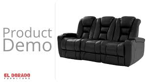 bobs furniture home theater seating transformer black power motion duo recliner sofa youtube