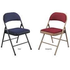 Folding Chair Fabric Nps Commercialine Fabric Padded Folding Chair Pack Of 4 Free