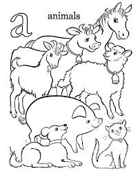 Farm Animal Alphabet Coloring Pages Best Images On Toddler Farm Color Page