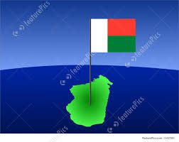 Map Of Madagascar Map Of Madagascar With Flag Stock Illustration I1437281 At Featurepics