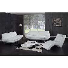 divani casa boco modern white leather sofa