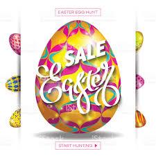 easter egg sale easter egg sale banner background template30 stock vector