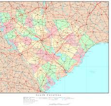 map of sc south carolina political map