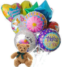 teddy balloons thinking of you balloons 12 mylar balloons