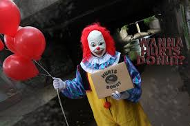 where can i rent a clown for a birthday party you can get a scary clown to deliver doughnuts to your friends