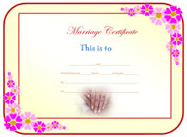 marriage certificate format