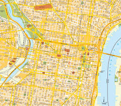Map Of Northeast Us Map Philadelphia Pa City Center Pennsylvania Usa Central