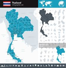 World Map Thailand by Thailand Infographic Map Illustration Vector Art Getty Images