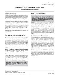 hearth and home technologies smart stat ii user manual 10 pages