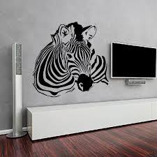 popular zebra wall sticker buy cheap zebra wall sticker lots from high quality zebra wall stickers living room removable vinyl self adhesive animal home decor art murals