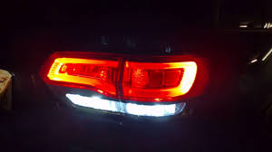 2016 jeep cherokee tail lights reverse led for 2014 2019 jeep grand cherokee wk2 youtube