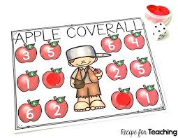 johnny appleseed apple coverall games recipe for teaching