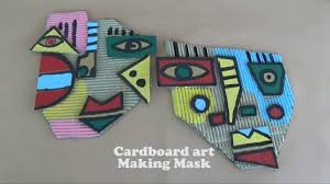 cardboard art ideas making mask youtube