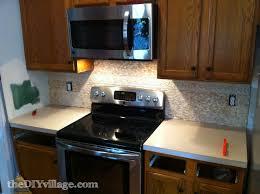 kitchen split face travertine tile backsplash the diy village inst