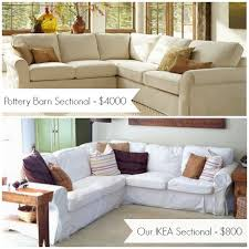 Sofa Covers Sale Twill Separate Seat Tailored Loose Fit Slipcover Pottery Barn Sofa
